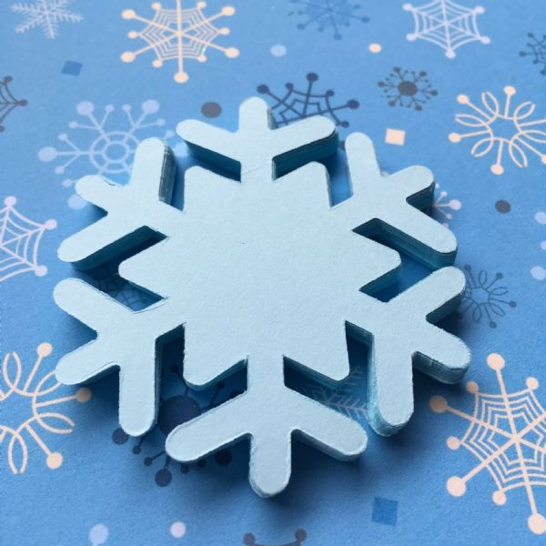 Stix-2 Die Cut Shapes Blue Snowflake 1
